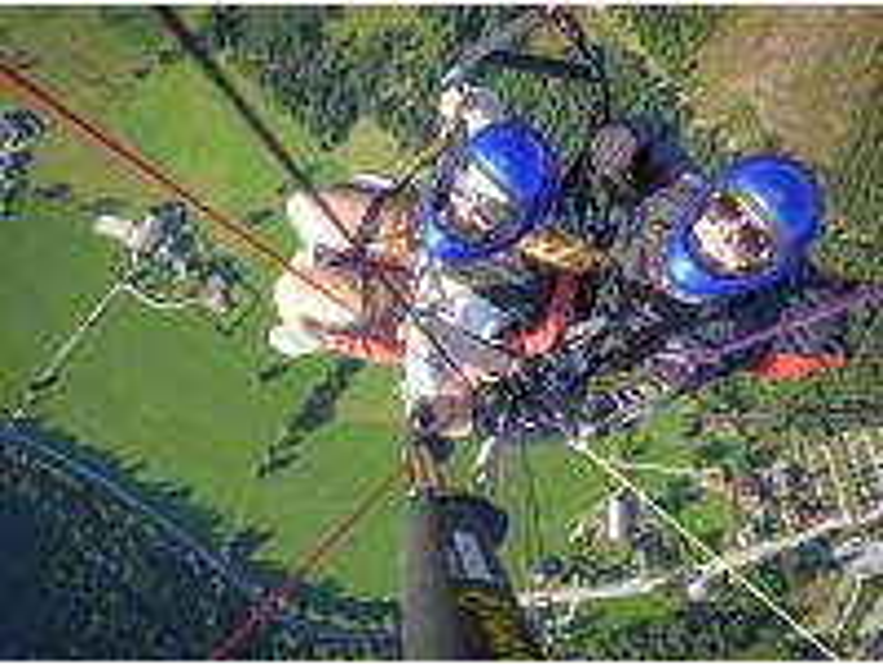 Tandem-Paragleitflug vom Hauser Kaibling